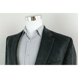 Chaps Black 2 Button Sport Coat Blazer Mens 44L